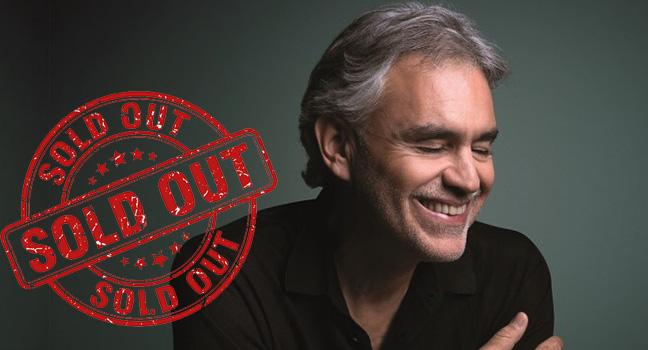 News | Sold Out η συναυλία του Andrea Bocelli τον Σεπτέμβριο στην Ελλάδα