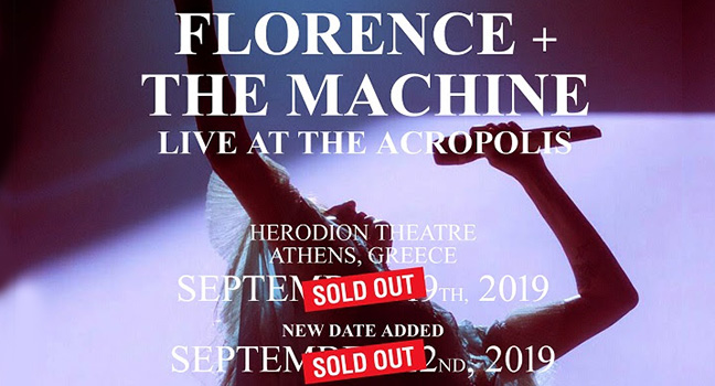 News | Sold Out και η δεύτερη συναυλία των Florence + The Machine τον Σεπτέμβριο στην Ελλάδα