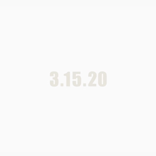 2020 – 3.15.20