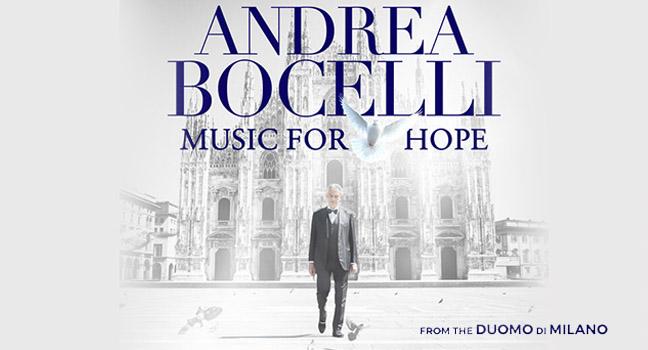 Νέο EP | Andrea Bocelli – Music For Hope: From The Duomo Di Milano